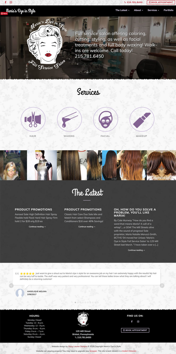 marias dye in style homepage